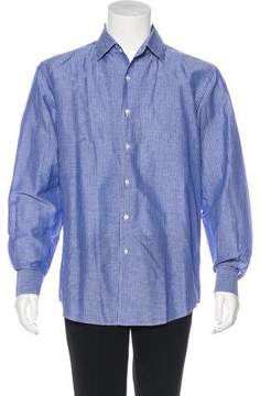 Luciano Barbera Linen-Blend Button-Up Shirt