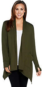 Cuddl Duds Comfortwear French Terry Cascade Front Cardigan