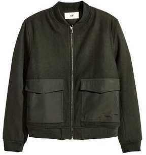 H&M Wool-blend Bomber Jacket