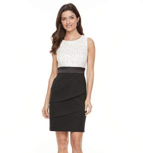Connected Apparel Women's Tiered Sequin Sheath Dress