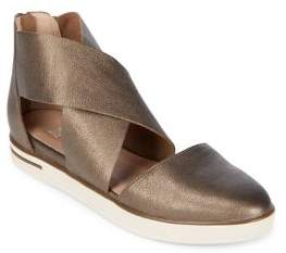 Eileen Fisher Carver Criss-Cross Leather Flats