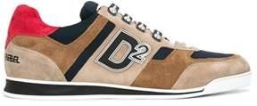 DSQUARED2 Men's Beige/brown Suede Sneakers.