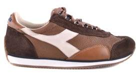 Diadora Heritage Men's Brown Leather Sneakers.