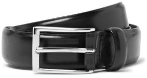 J.Crew 3cm Black Glossed-Leather Belt