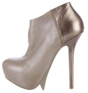 Camilla Skovgaard Iridescent Platform Ankle Boots