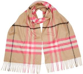 Burberry Classic Cashmere Scarf - Bright Peony