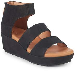 Gentle Souls Women's By Kenneth Cole Milena Leather Wedge Sandals
