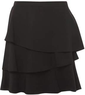 Dorothy Perkins Black Tiered Ruffle Mini Skirt