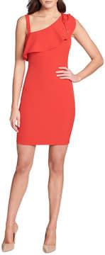 GUESS Asymmetric Mini Scuba-Crepe Dress