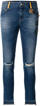 Ermanno Scervino patch detail distressed jeans