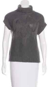 Akris Punto Short Sleeve Wool Sweater