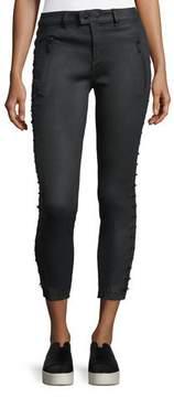 DL1961 Premium Denim Florence Lace-Up Skinny Crop Pants