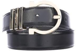 Salvatore Ferragamo Gancino Leather Belt