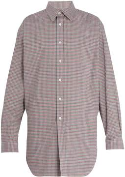 Raf Simons Gathered hem cotton-poplin shirt