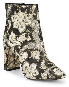 Ted Baker Almond Toe Jacquard Booties