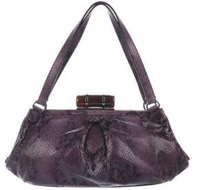 Miu Miu Embossed Leather Frame Bag