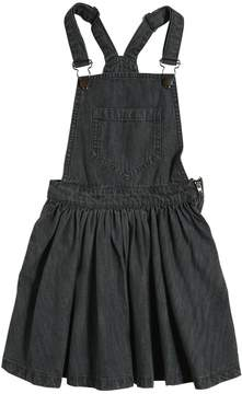 Finger In The Nose Denim Overalls Dress