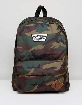 Vans Old Skool Ii Backpack In Camo Print