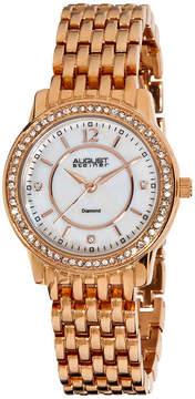 August Steiner Womens Rose Goldtone Strap Watch-As-8027rg