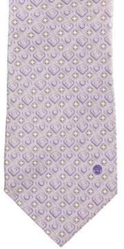 Gianni Versace Geometric Print Silk Tie
