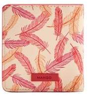MANGO Feather Printed Faux Leather Wallet