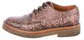 Dries Van Noten Embossed Lace-Up Oxfords