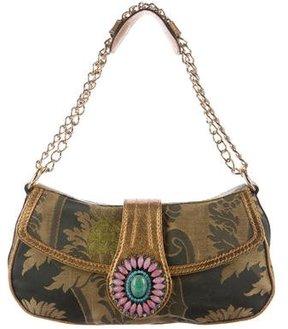 Etro Stone-Embellished Jacquard Bag