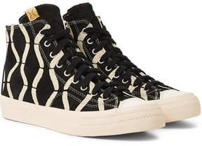 Visvim Skagway Printed Suede High-Top Sneakers