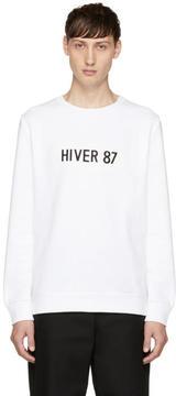 A.P.C. White Hiver 87 Sweatshirt