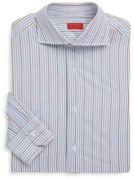 Isaia Striped Regular-Fit Dress Shirt
