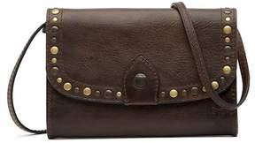Frye Melissa Leather Studded Western Crossbody Bag