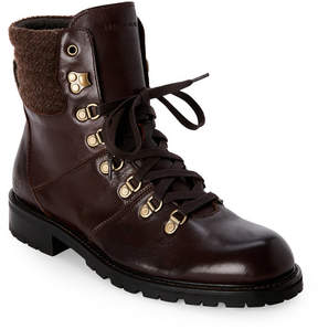 Andrew Marc Carob & Asphalt Chester Lace-Up Boots