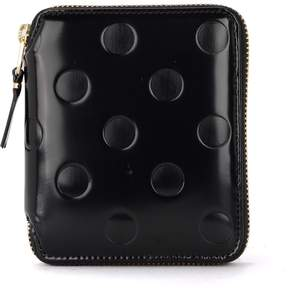 Comme des Garcons Black Shiny Printed Leather Wallet
