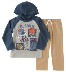 Kids Headquarters Little Boys Two-Piece All Sports Hoodie and Jogger Pants Set