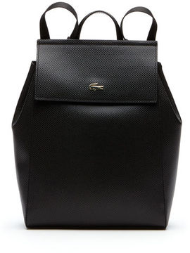 Lacoste Women's Chantaco Piqu Leather Backpack