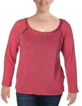 Calvin Klein Jeans Womens Knit Long Sleeves Pullover Top