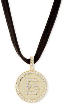 Fallon Armure Leather Monogram Choker Necklace