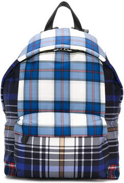Givenchy coated canvas checked backpack