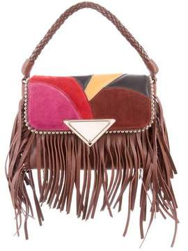 Sara Battaglia 2017 Amber Fringe Shoulder Bag