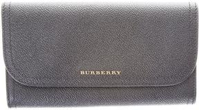 Burberry Harris Leather Continetal Wallet - BLACK - STYLE