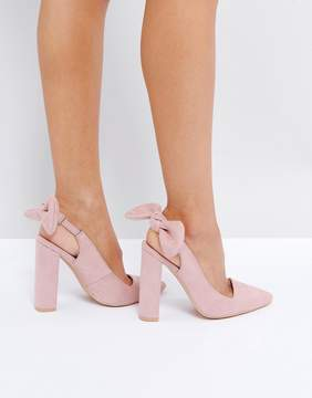 Public Desire Dover Bow Pointed Heeled Shoes