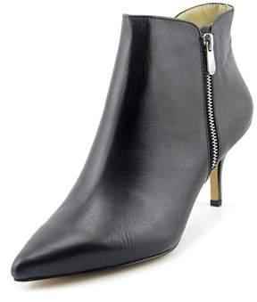 Adrienne Vittadini Senji Women Pointed Toe Leather Black Bootie.