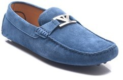 Emporio Armani Men's Suede Driving Shoes Blue.