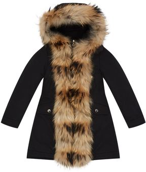 Moncler Clarabide Fur Hood Front Coat