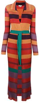 Etro long striped ribbed cardigan