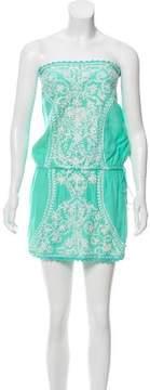 Melissa Odabash Embroidered Strapless Dress