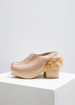 Rachel Comey Beige Polished Leather Phair Clog