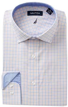 Nautica Coral Check Classic Fit Dress Shirt