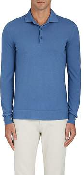 Loro Piana Men's Fine-Gauge Knit Cashmere Polo Shirt