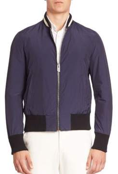 Bally Nylon Varsity Bomber Jacket